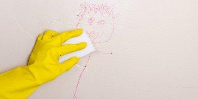 Washing painted walls